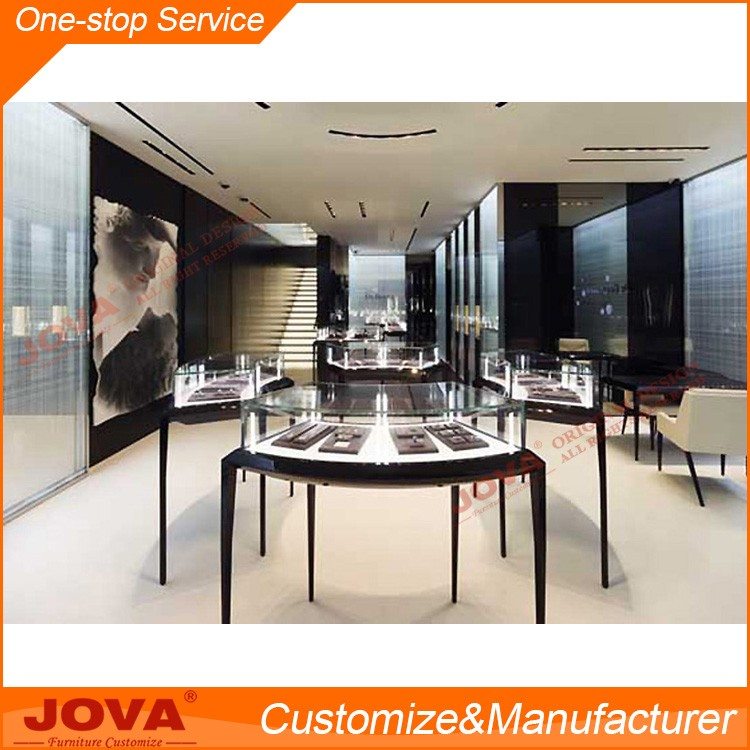 Glass jewelry store furniture store for creative jewelry watches and jewelry display