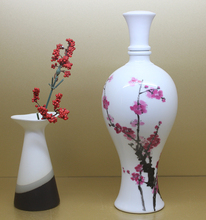 african narrow neck vase made in china