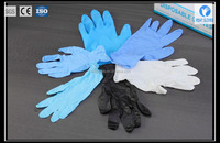 OEM manufacturer heavy duty blue powder free nitrile gloves with cheap price