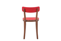 Solid wood chair plastic seat and back beech wood