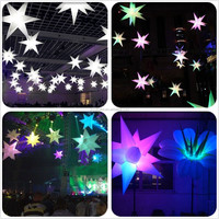 CILE Inflatable star decoration with LED light for event party wedding