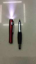 3 in 1 Multifunction promotional LED light pen stylus ball pen with logo print advertising metal pen