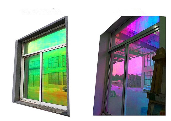 Royal Glory 70micron Self Adhesive Dichroic Window Film plus 23micron Clear PET film