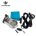 "PQY RACING - 3""/76mm Vacuum Exhaust Cutout Electric Control Valve Kit With Vacuum Pump PQY-ECV13"