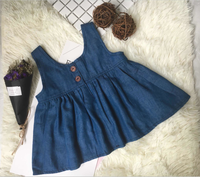 2017 new design denim skirt with headwear frock cutting