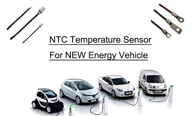 thermistor battery sensor for New energy vehicles with wire type ntc thermistor