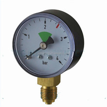 Black ABS Normal Dry Gas 0-4bar Pressure Gauge