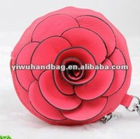 Fashion Women Leather Rose Coin Purse in stock