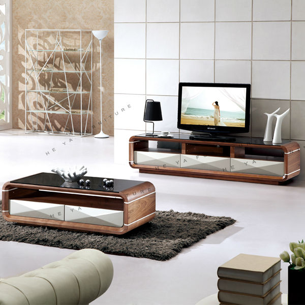 Modern Mdf Media Console Tv Table Assembly Wooden Tv