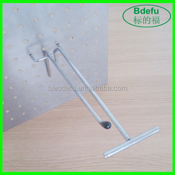 Hanging Display Hook with Plastic Cap for Perforated Back Panel