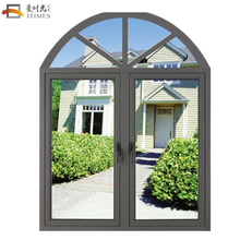 Non-thermal break arch aluminum curve window frames price south africa