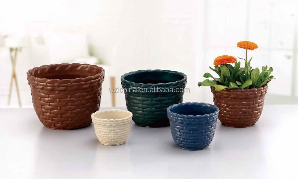 Plastic Flower Pots Garden Plant Pots Small Flowerpots For
