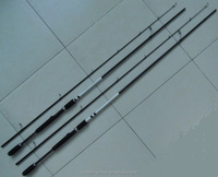2.40m x 2sec. 24T carbon Spinning rods