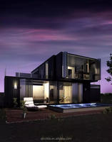 modern container house/prefab house/modular homes