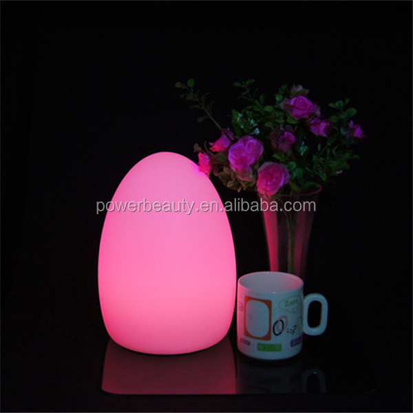 rgb color changing rechargeable led egg light for table