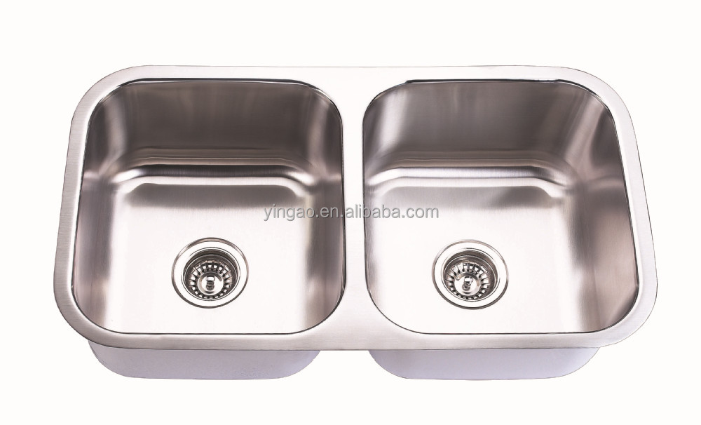 Cheap Price New Square Double Bowl Water Tanks European Stainless Steel Sink for Kitchen