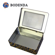 rectangle /square Tin pie boxes with clear window