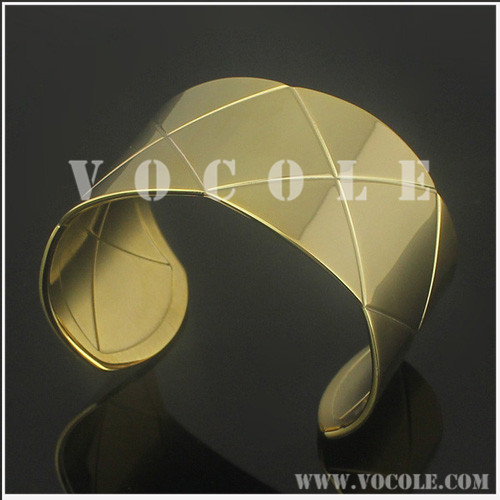 New arrival gold wide bangle jewelry cuff design for unisex