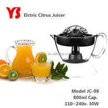 30W 0.8L small plastic citrus juicer black color