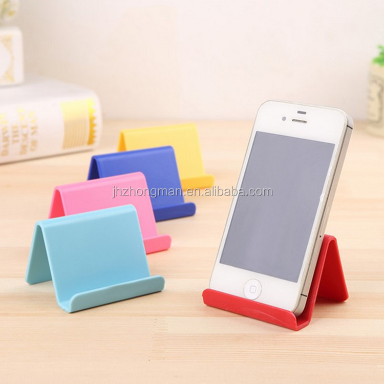 colourful lazy stent Portable cute promotion gift custom logo business card holder shape plastic Mobile phone stand