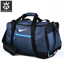 Blue color portable nylon custom sports travel duffle bag manufacturers
