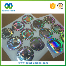 Various colorful iridescent hologram die cut sticker