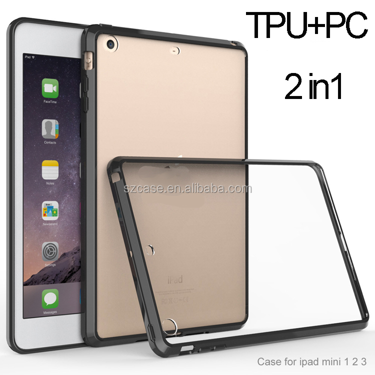 tpu + pc case for ipad mini , cell phone case for ipad air