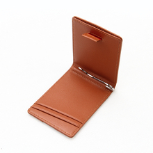 Customized wallet RFID Card Holder Leather Money Clip Wholesale