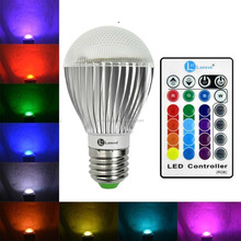 RGB LED Bulb E27 Remote Control Light Color Changing Spotlight Dimmable Magic Holiday Lamp 3W