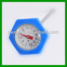 Dial round BBQ food meat mini thermometer