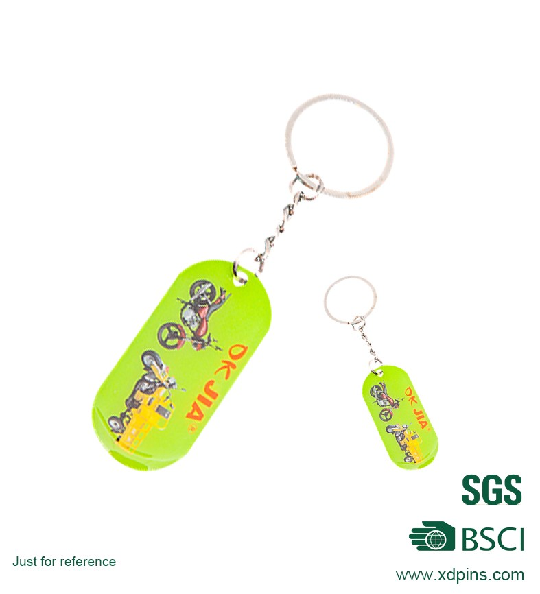 cheap promotion motorcycle printing key rings with key holder