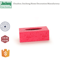 Decorative cartoon pink leather facial tissue holder, tissue box holders, table tissue holder