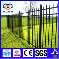 High quality galvanized steel residential fence