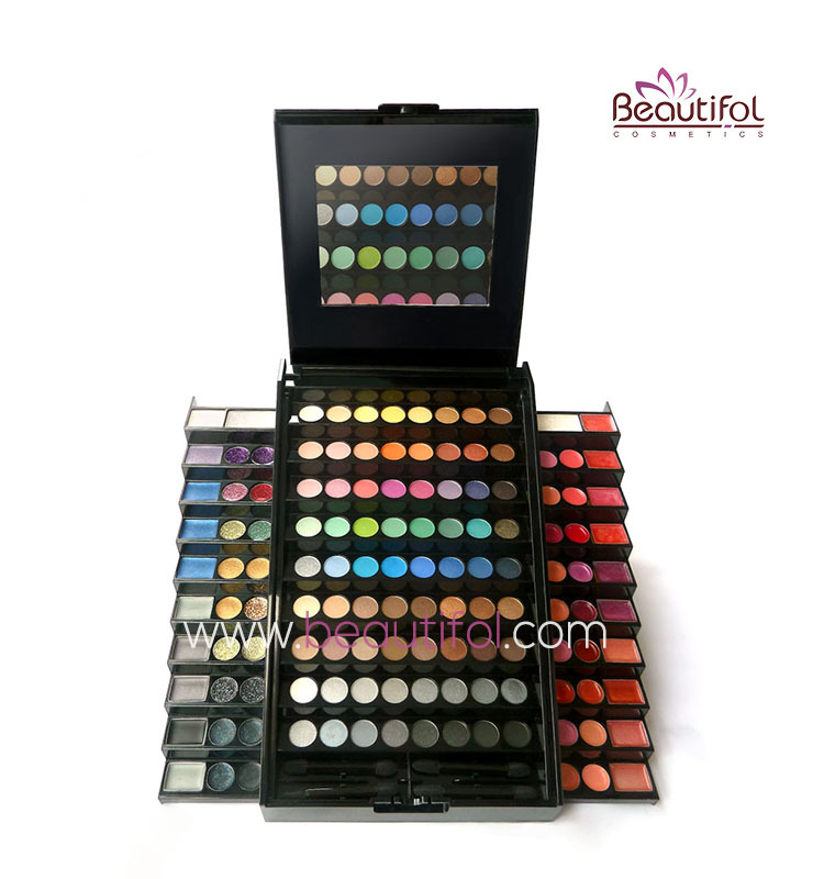 Professional big big eyeshadow makeup palette / make up set / cosmetics kit, eye shadow / lip gloss / glitter
