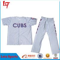 OEM custom sublimation chicago cubs baseball jersey blank