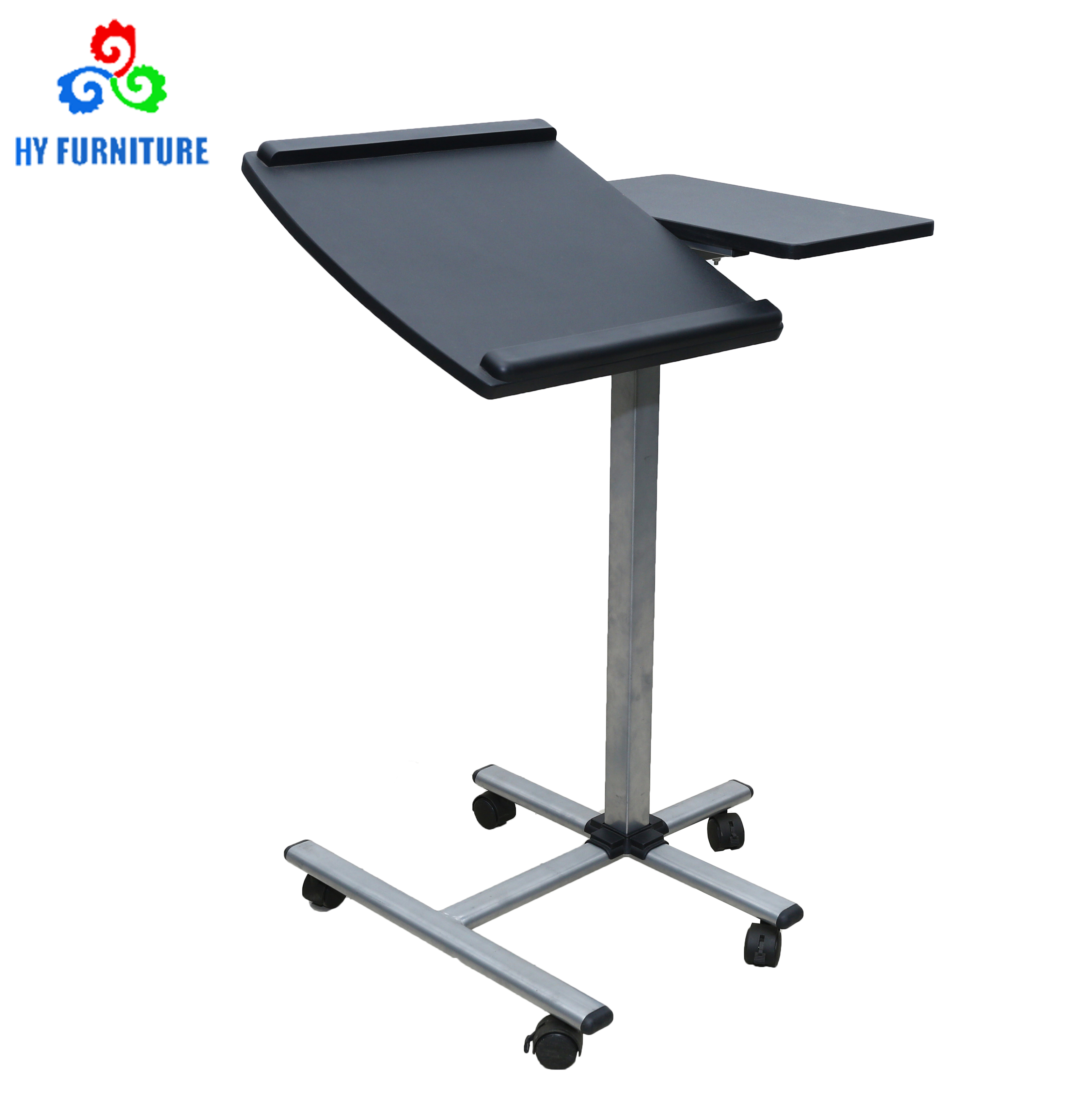 Movable adjustable laptop desks carts noteboke computer table stand with wheels