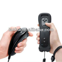 Black Remote + Nunchuck Controller Set + Case + Wrist For Nintendo Wii New