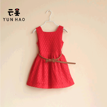 Cheap New Summer Fashionable Simple Style Kids Girl Lace Dress With Waistband