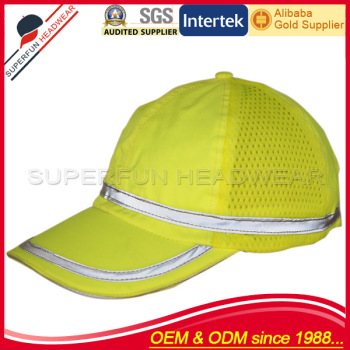 high standard fluorescent reflective cap safety hat