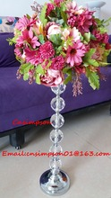 metal acrylic ball flower arranging stand
