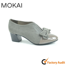 MK084-1 TAUPE ladies favorite fashion adorable bowknot dress shoes top grade leather shoes