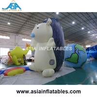 Custom Giant Parade Float Characters Helium Balloon / Inflatable Hedgehog with LED Light