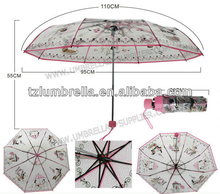 Wholesale Dome Tent Transparent Umbrella Custom Full Printed Folding Umbrellas POE umbrella OEM