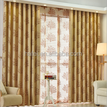 noble elegant tree pattern designs jacquard champagne blackout curtain for living room bedroom
