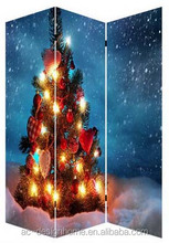 LIGHTING CHRISTMAS TREE 3 PANEL CANVAS/WOODEN FOLDING LED ROOM DIVIDER