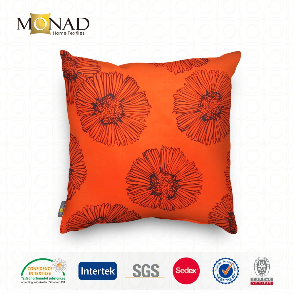 High Quality Modern Custom Orders Printing Elegant Sunflower Floral Designs Cushion Cover