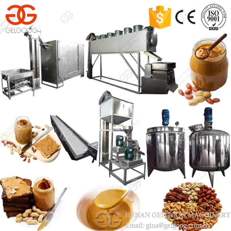 Full Set Small Scale Continuous Sesame Tahini Processing Plant Groundnut Paste Making Machine Peanut Butter Production Line