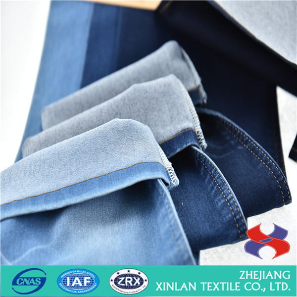 cotton polyester spandex rayon denim jeans fabirc price from textile factory