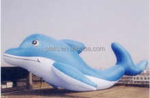 attractive giant inflatable dolphin, inflatable animal model, inflatable sea theme