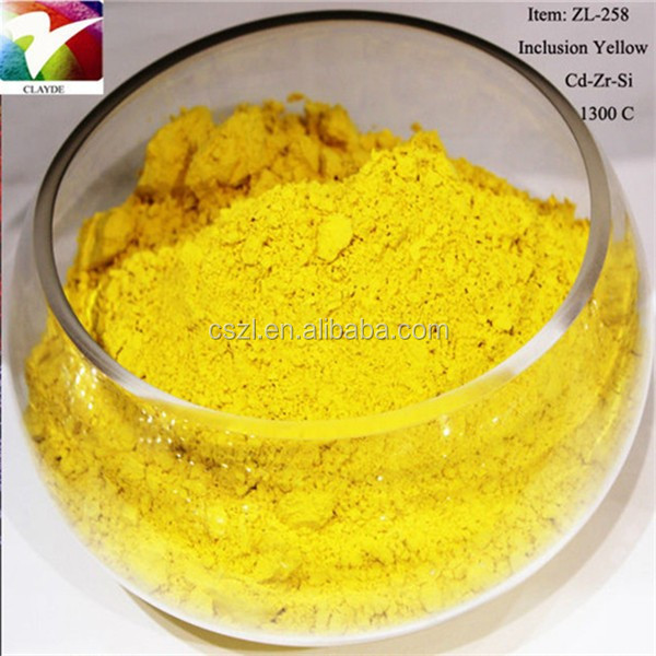 yellow inclusion ceramic color holographic pigment